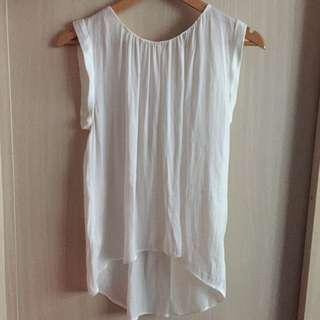 Mango White Silk Officewear