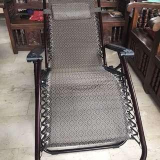 Metal reclining chair