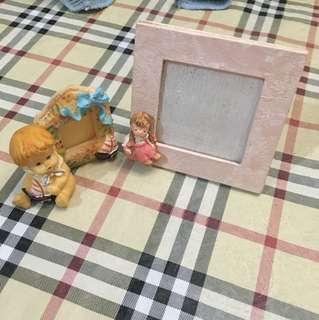 2 pcs. Baby picture frames