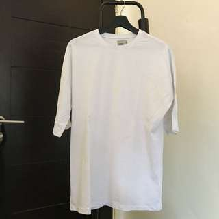 Asos Oversized Tee with Half Sleeve in White