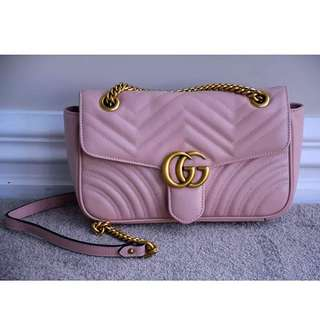 Gucci Marmont Pink Bag GC