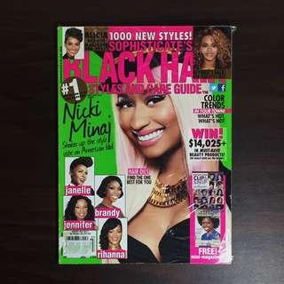 Black Hair Nicki Minaj 2013 issue