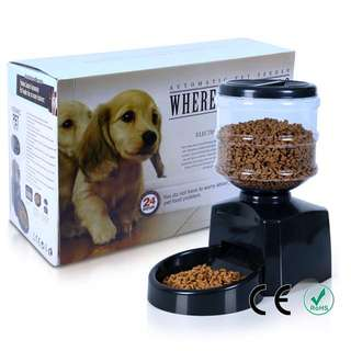 [CASH AND CARRY] (Cash and Carry) 5 Litre Automated Pet Feeding Food Machine For Dogs Cats Rabbits