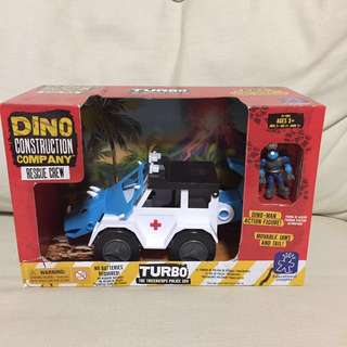 SALE 50% Off - BN sealed sealed Educational Insights Dino Construction company rescue crew Turbo the Triceratops Police SUV toy
