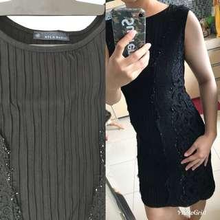 Nyla basic dress Ori - black
