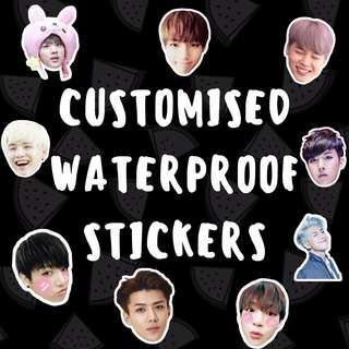 po // customised high quality luggage laptop water proof stickers