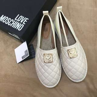 AUTHENTIC LOVE MOSCHINO ESPADRILLES QUILTED SHOES