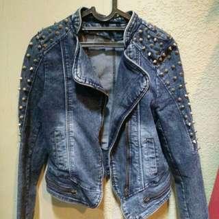 Jaket jeans duri
