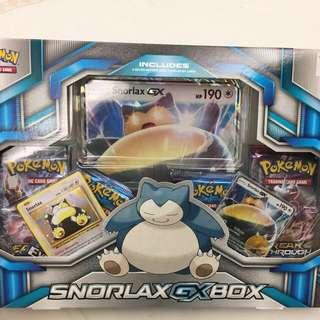 Free Shipping -Pokemon Snorlax GX Box