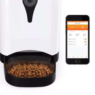 [INSTOCKS] Smart Camera Automated Pet Feeder For Dogs Cats Rabbits (Camera And Wifi)