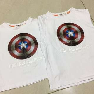 Captain America T-shirt for 90cm and 110cm