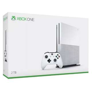 Xbox One S limited edition 2TB console , Microsoft Xbox One S Special Launch Edition 2TB White Video Game Console Bundle. It PerOrder take 2 week
