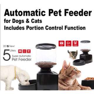 <CASH&CARRY> 5 Litre Automated Pet Feeding Machine For Dogs Cats Rabbits