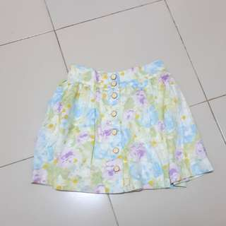 Authentic Divided by H&M Flowery Skirt