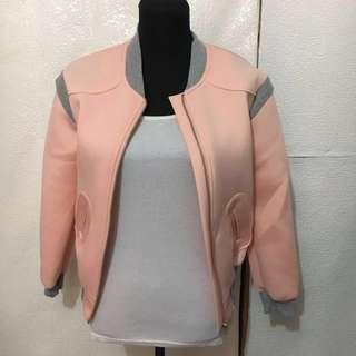 coral bomber jacket