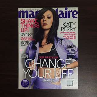 Katy Perry Marie Claire Jan 2014