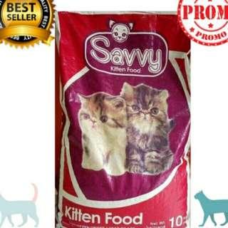 Savvy kitten food (cat food) 1kg. Free ongkir sejabodetabek