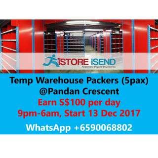 Temp Warehouse Packers
