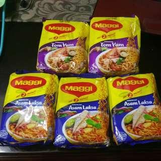 Maggi Tom Yam and Laksa noodles