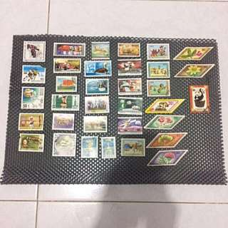 Assorted Mongolian Stamps