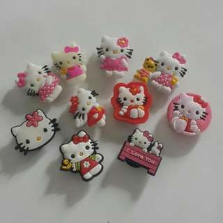 Hello Kitty Shoe Charms Buttons