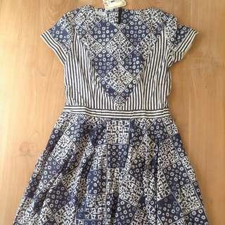 Dress Batik by Kamaya warna Indigo