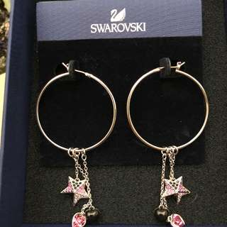 SWAROVSKI RASPBERRY PIERCED EARRING DROP- AUTHENTIC