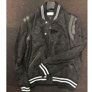 全新YSL (SAINT LAURENT)黑色迷彩圖案外套