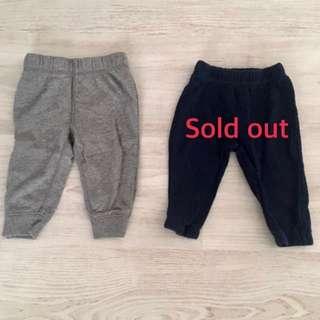 2手(6M)。carter's 秋冬棉褲