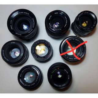 Various Manual Lenses for Sale adaptable to Sony Mirrorless Camera