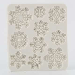 XM189 Snowflake Mold 10 in 1 Snow Mould Christmas