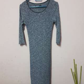 Cotton on inspired grey midi dress