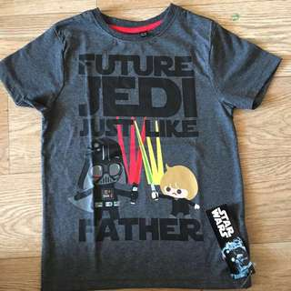 Primark size 6-7yrs: star wars 'future jedi just like my farther' tshirt