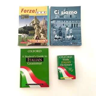 Primary/ High School Books: Italian, Maths, Art, Music, IT, Geography, Religion