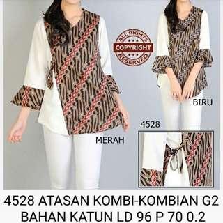 NEW!!! Ai 4528 atasan kombi2an g2 blouse batik wanita