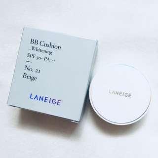 laneige whitening bb cushion mini in no.21 beige