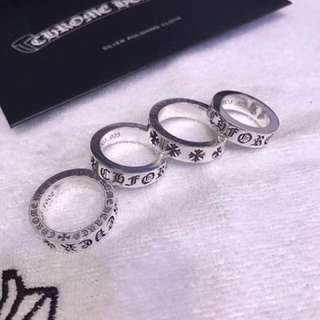 Chrome Hearts CH forever silver ring