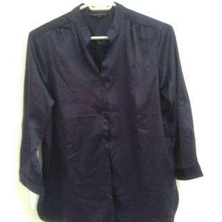 Kemeja The Executive warna Navy Keunguan (purple navish)