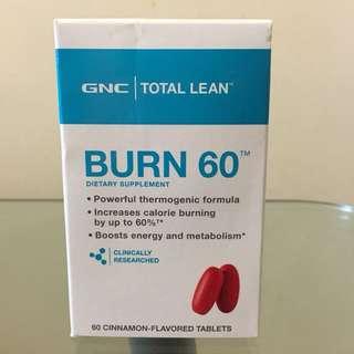 🔥2樽=HK$220🔥GNC Burn 60 (燒脂60) 60粒