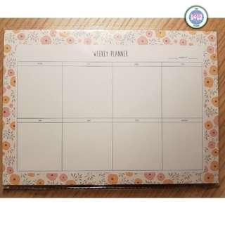 Flower weekly planner