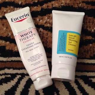 Eucerin & Cosrx cleanser