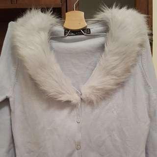 🚚 Zara淺藍毛衣外套