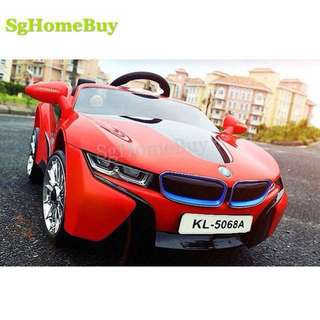 In-stock - new red Bmw i8 electric car for kids
