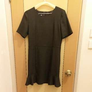 深灰西裝裙