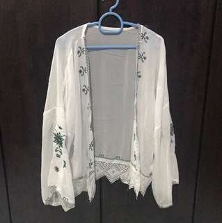 White Outwear Embroidery