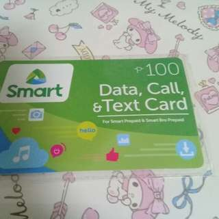 Smart Load card 100 pesos
