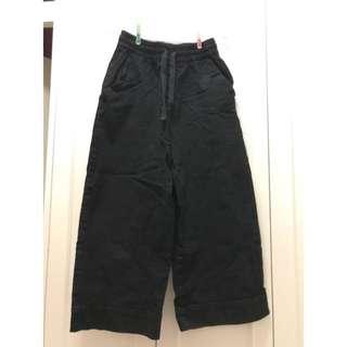 Monki 黑色闊腳褲