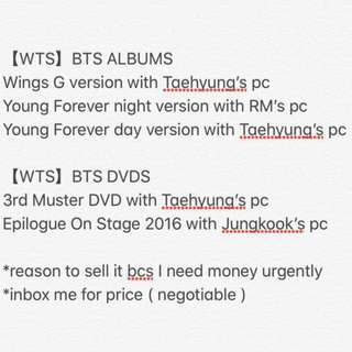 【WTS】BTS ALBUMS AND DVDS