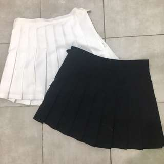 Pleated American Apparel skirt