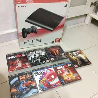 PS3 Game Console & Video Games Set